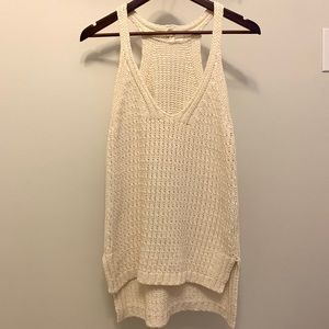 Anthropologie Moth Cream Cable Knit Sweater